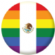 Mexico Gay Pride Flag 58mm Button Badge